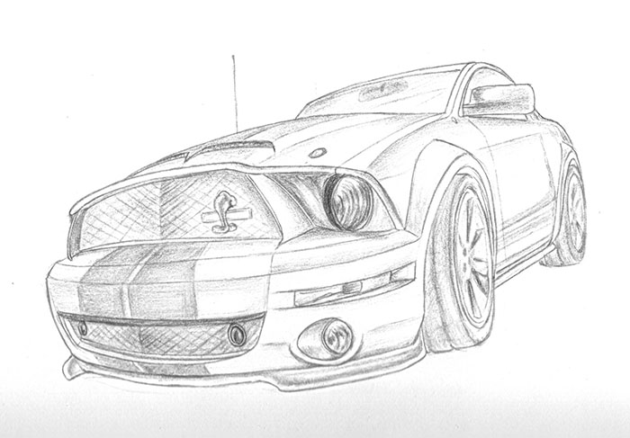 Mustang Drawings In Pencil on 1969 ford mustang boss 429