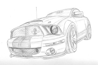 mustang illustration thumb