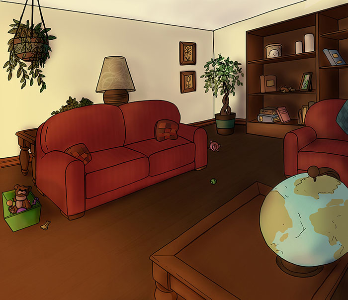 Room Digital Illustration